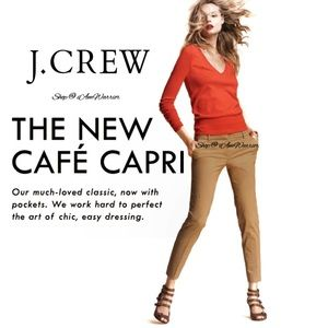 J. Crew Cafe Capri slim stretch pants
